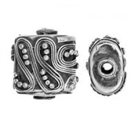 Sterling Silver Fancy Shaped Beads 11.5x8 mm - B1639