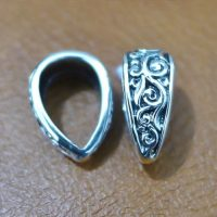 Sterling Silver Pendant Bail With Ornate - BL009