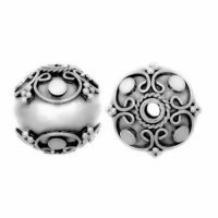 Sterling Silver Fancy Round Beads 11.5x11mm - B1091