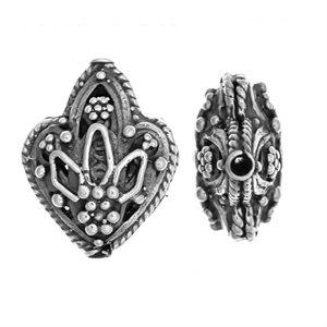 Sterling Silver Fancy Shaped Beads 16x6.5mm - B1638