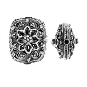 Sterling Silver Fancy Shaped Beads 14.3x8.2mm - B1640