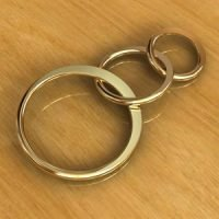 Sterling Silver Triple Circle Links