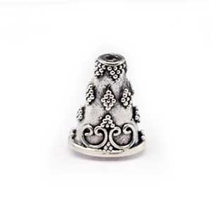 Sterling Silver  Cones  16.3 x 12.5 mm - B1550