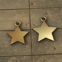 Sterling Silver Star Blank Charm
