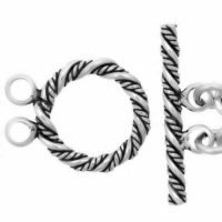 Sterling Silver Toggle Clasps Ø 16 mm – C3084