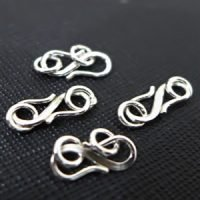sterling silver S clasps