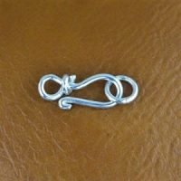 Sterling Silver Hook Clasps 16.5mm - C3212