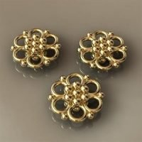 Sterling Silver Flower Conector Ø9.0mm - 3.3mm Thick - CN002