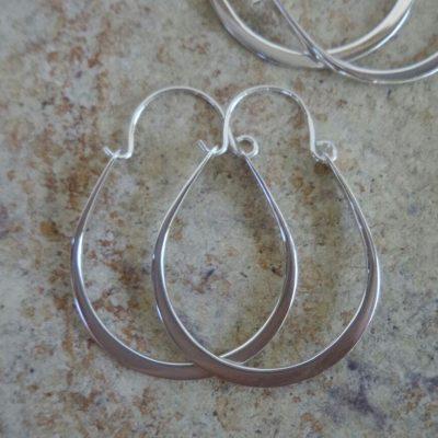 Sterling Silver Earrings Hoop 31x24mm – ER8076