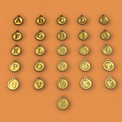 Sterling Silver Alphabet Charms - ID1010