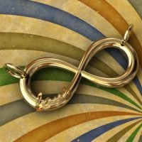 Sterling Silver Love Infinity Link 22.2x10.0mm - 16 ga - IN004