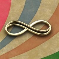Sterling Silver Infinity Link 19.5x8mm - IN006