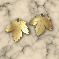 Sterling Silver Tiny Leaf Charm - LFT001