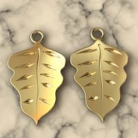 Sterling Silver Tiny Leaf Charm - LFT004