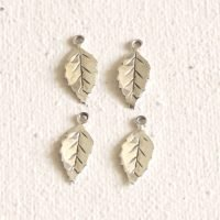 Sterling Silver Tiny Leaf Charm - LFT005