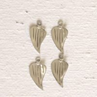 Sterling Silver Tiny Leaf Charm - LFT006