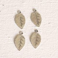 Sterling Silver Tiny Leaf Charm - LFT008