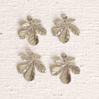 Sterling Silver Tiny Leaf Charm - LFT009