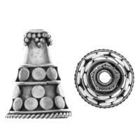 Sterling Silver Cones Cones 15.6×12.2mm – R485