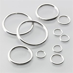 Sterling Silver Round Closed Jump Rings