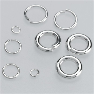 Sterling Silver Round Open Jump Rings