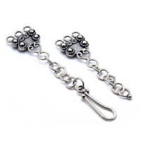 Sterling Silver Hook Clasps L: 108 mm - C3164