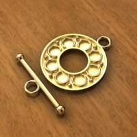 Sterling Silver Toggle Clasps Ø 19mm, 22.50mm bar - C3198