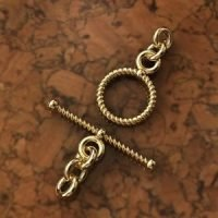 Sterling Silver Twisted Toggle Clasps