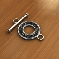 Sterling Silver Toggle Clasps Ø 14.60mm, 18.60mm bar - C3214