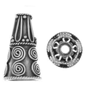 Sterling Silver Cones 19x11mm - CAP155 1