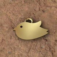Sterling Silver Bird Charm 12x8.4mm - CH055