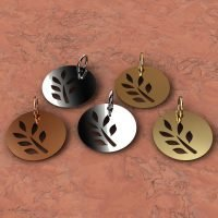 Sterling Silver Leaves Charm