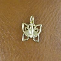 Sterling Silver Butterfly Charm 12x11mm