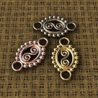 Sterling Silver Filigree Connectors 15.9x9.5mm - CR056