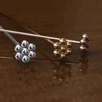 Sterling Silver Ornate Head Pins 22 Gauge