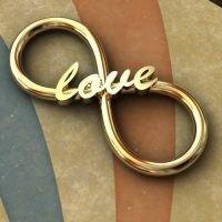 Sterling Silver Love Infinity Link 22x9.5mm 16ga - IN003