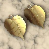 Sterling Silver Tiny Leaf Charm - LFT002