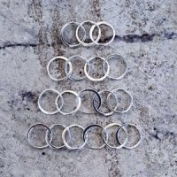 Sterling Silver Circles Link