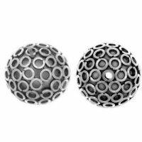 Sterling Silver Fancy Round Beads  13x14.5mm - B1052