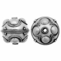 Sterling Silver Fancy Round Beads  18x17mm - B1061