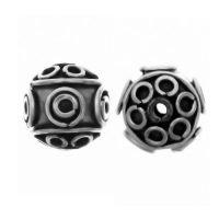 Sterling Silver Fancy Small Beads  8.5x9mm - B1067