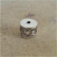 Sterling Silver Ornate Tube Beads 9x11mm - B1096