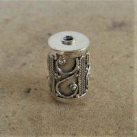 Sterling Silver Ornate Tube Beads 16.5x10.50 mm - B1097