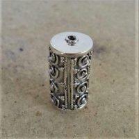 Sterling Silver Ornate Tube Beads  21x11.50 mm - B1098