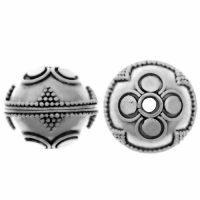 Sterling Silver Fancy Round Beads  14x15.5mm - B1139