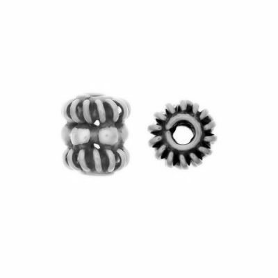 Sterling Silver Barrel Small Beads  4.5x5mm - B1146