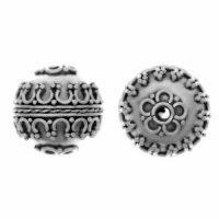 Sterling Silver Fancy Round Beads  13.7x13.4mm - B1152