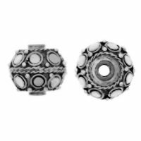 Sterling Silver Fancy Small Beads  10x10.5mm - B1212