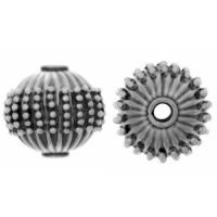 Sterling Silver Fancy Round Beads  12x13mm - B1266