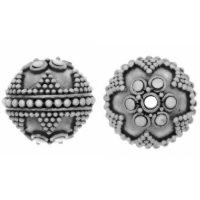 Sterling Silver Fancy Round Beads  13.5x13.5mm - B1307